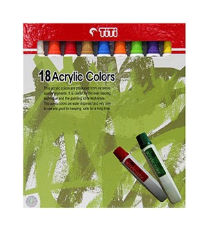 Supplier ATK TiTi Acrylic Color AC-12ML-18 Warna Harga Grosir