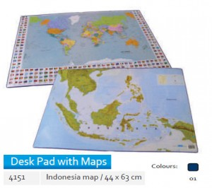 Supplier ATK Bantex 4151-01 Desk Pad with Indonesia Map 44 x 63 cm Harga Grosir