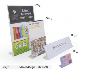 Supplier ATK Bantex 8857-08 Slanted Sign Holder A8 Harga Grosir