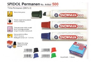 Supplier ATK Snowman 500 Spidol Jumbo Permanent Harga Grosir