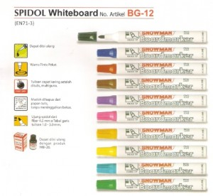 Supplier ATK Snowman BG-12 Spidol Whiteboard Harga Grosir