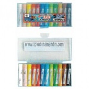 Supplier ATK TiTi Oil Pastel 12 Warna TI-P-12CR (Round) Harga Grosir